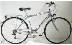 Cicli Cinzia 28 ZOLL CINZIA TREND Trekking Fahrrad 6-GANG Herren weiß-anthrazitgrau