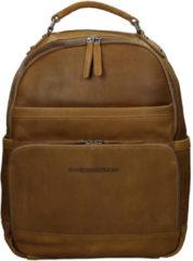 Bruine Chesterfield Bags Leren Laptop Rugzak Austin Cognac