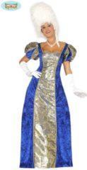 Blauwe Guirca Middeleeuwen & Renaissance Kostuum | Chique Markiezin Renaissance | Vrouw | Maat 38-40 | Carnaval kostuum | Verkleedkleding