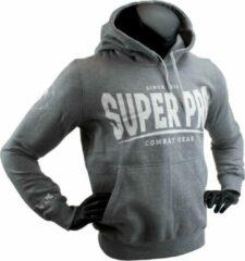 Super Pro Combat Gear Super Pro Hoody S.P. Logo Grijs/Wit Small