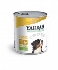 Yarrah Dog Blik Brokjes Kip In Saus Met Brandnetel En Tomaat 6x820 Gr