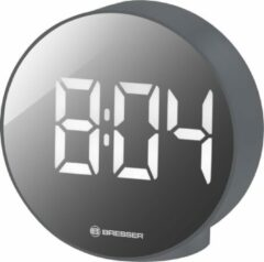 Bresser Wekker MyTime Echo FXR Rond - Grijs - Incl. Binnentemperatuurmeter