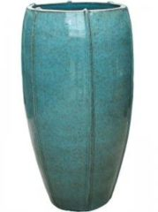 Ter Steege Moda bowl high bloempot 53x53x92 cm blauw