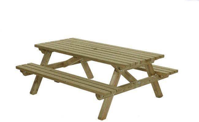 Afbeelding van Groene Talen Buitenmeubelen Picknicktafel 200cm