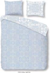 Blauwe Descanso katoensatijnen dekbedovertrek 2 pers.