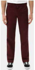 Bordeauxrode Chino Broek Dickies S/stght work pant