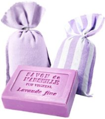 Lavendelsäckchen mit Seife Plantes & Parfums lila
