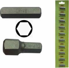 JBM Tools | M8 INBUSSLEUTEL MET HEX-BIT 8MM - VERCHROOMD