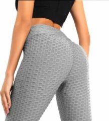 Easylux Fit™ - TikTok Legging - Maat S - Grijs - Sport Legging - Fitness Legging Dames - Shape Legging - High Waist Yoga Pants