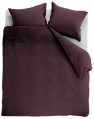 Ambiante Cotton Uni Dekbedovertrek - Tweepersoons - 200x200/220 cm - Donkerrood