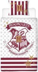 Harry Potter Dekbedovertrek - 100% Katoen - 1-persoons (140x200 Cm + 1 Sloop) - 1 Stuk (65x65 Cm) - Wit