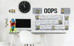 Minions Despicable 3 Oops - Muursticker - Multi