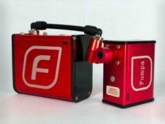 Rode Automatische en Elektrische fietspomp met drukmeter Fumpa Pump