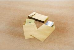 Raadhuis loonzakje 65x105mm bruin kraftpapier 70gr, ds/1000