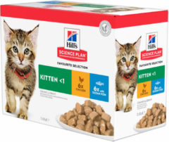 Hill's Science Plan - Kitten - Maaltijdzakje Favourite Selection 12 x 85 gr