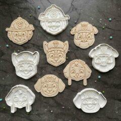 Happy bakers Paw Patrol Cookie Cutters / Uitstekers Set / Fondant Stempels / Paw Patrol Koekjes Vormen - 5 Stuks