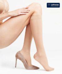 Beige FALKE Leg Energizing 30 Dames Steunkniekous 41763 - Huidskleur 4059 cocoon Dames - 41-42