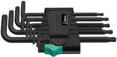 Wera 967 PKL/9 TORX® Stiftsleutelset, BlackLaser, 9 -delig - 1 stuk(s)