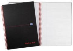 Oxford BLACK N' RED spiraalblok kunststof 140 bladzijden formaat A4 gelijnd