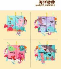 Lovely Baby Babyboekje /Babyspeelgoed / Speelgoed voor 3 maanden -3 jaar oude Baby Jongens Meisjes Cadea/Babyboekjes Leren speelgoed /baby book/ Bath book / Ocean Animals
