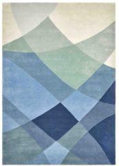 Claire Gaudion - Rhythmic Tides Indigo Vloerkleed - 170x240 cm - Rechthoekig - Laagpolig Tapijt - Modern - Meerkleurig