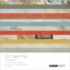 """Kaisercraft: Now Boarding Paper Pad 6,5*6,5"""" (PP929)"""