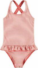 Rode Looxs Revolution 2113-7011-862 Meisjes Badkleding - Maat 98 - RED STRIIPE