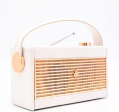 Creme witte GPO Retro Radio Retro Radio Draagbaar - Creme