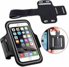 ICall Universele Spatwaterdichte Sportarmband voor Smartphone - Met Sleutelhouder - Zwart