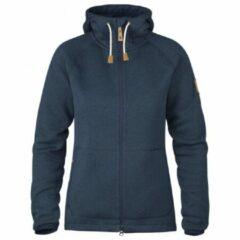 Blauwe Fjällräven - Women´s Övik Reinforced Hoodie - Fleecejack maat XL blauw/zwart