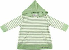 Ducksday zomer poncho unisex groen stripe - 4 jaar