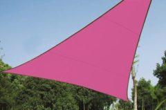 Roze Velleman Schaduwdoek - Zonnezeil - Driehoek 5 X 5 X 5 M, Kleur: Fuchsia