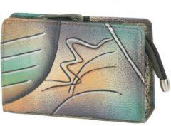 Art + Craft Kosmetiktasche Leder 14 cm Greenland handbemalt