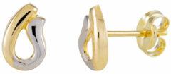 Zilveren Glow oorknoppen - U-vorm - geelgoud - witgoud