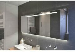 Rm & Co LoooX ML1-Line spiegel met indirecte LED onder en geïntegreerde led-verlichting 80x70cm met tip-toets bediening