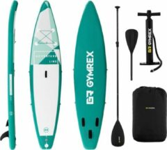 Gymrex Inflatable SUP-bord - 120 kg - groen - set met peddel en accessoires