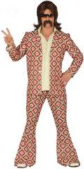 Rode Guirca Hippie Kostuum | God Van De Dansvloer Disco | Man | Maat 52-54 | Carnaval kostuum | Verkleedkleding