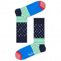 Happy Socks - Stripes And Dots Sock - Multifunctionele sokken maat 36-40, blauw/zwart
