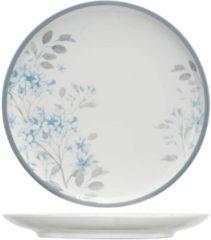 Cosy&Trendy Louisette Servies Bloemen Platte Dinerborden - Porselein - D27cm New Bone China (set van 4) En Yourkitchen E-kookboek - Heerlijke Smulrecepten