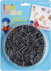Zilveren Kitchencraft Set Uitstekers Alfabet / Letters - Let's Make Kitchen Craft