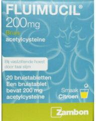 Fluimucil Hoest 200 mg 20 bruistabletten