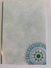 Kado2you Projectschrift / college schrift / Collegeblok / A5 Groen/Blauw 200 pagina's / TIP!