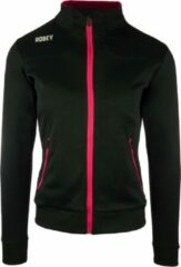 Robey Women Striker Trainingsjack - Voetbaljas - Black/Fuchsia - Maat 152