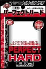 KMC Standard Sleeves (Perfect Hard): Clear (64x89mm) - 50 stuks