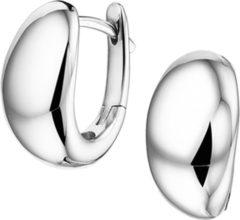 Zilveren The Jewelry Collection Klapoorringen - Zilver Gerhodineerd