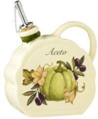 Nostalgischer Essig/Ölbehälter mit Kürbisdekor Nuova Ceramica Artisan mehrfarbig - Essigbehälter