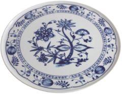 Tortenplatte Zwiebelmuster Kahla Weiß, Blau