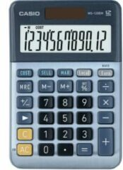 Casio MS-120EM Desk calculator Blue Display (digits): 12 solar-powered (L x W) 101 mm x 149 mm
