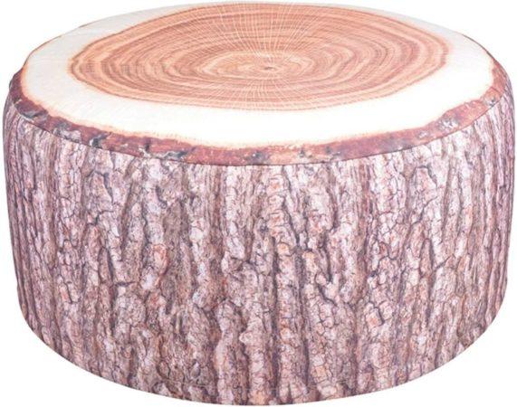 Afbeelding van Bruine Esschert design Tuinpoef Opblaasbaar - Waterbestendig - Boomstam