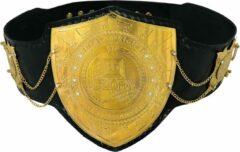 Gouden AA Fitness Gear Glory Kickboxing Heavy Weight Championship Leer Belt Replica - One Size